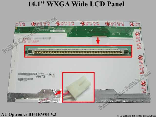 """14.1"""" WXGA Wide LCD Display Screen"""