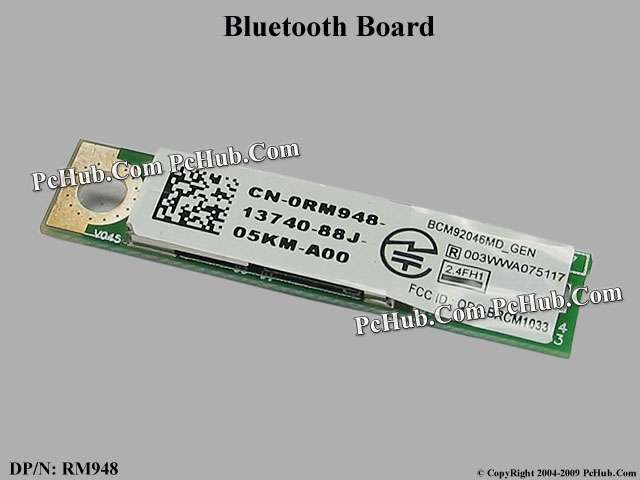 Dell Latitude E4300 Bluetooth Module DP/N: 0RM948 RM948 , BCM92046MD