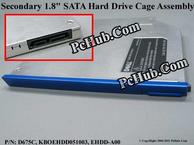 "Secondary 1.8"" SATA Hard Drive Cage Assembly - Blu"