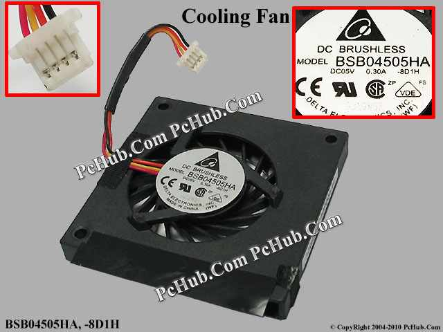 DC 0.30A, Square fan 45x45x7mm