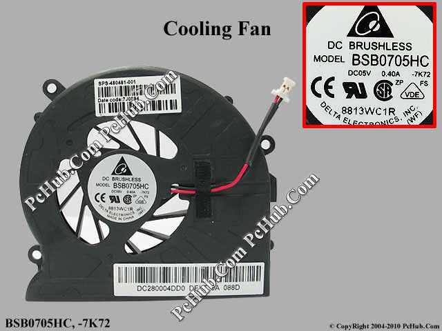 DC 5V 0.40A bare fan