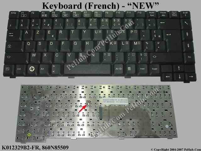 Fujitsu SIEMENS Amilo Pa 1510 Keyboard K012329B2-FR ...