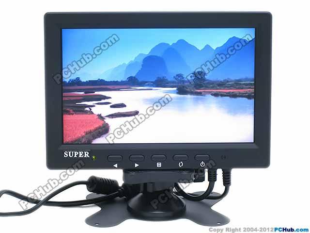 "7"" (800 x 480) TFT LCD Monitor / TV."