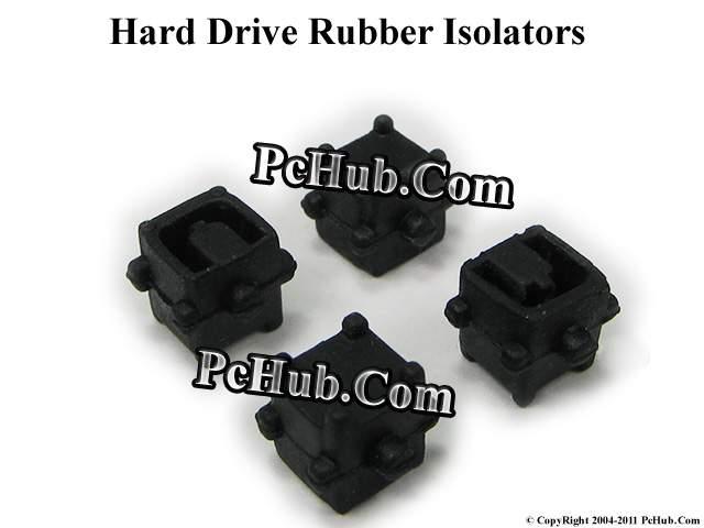 Hard Drive Rubber Isolators - Black Color