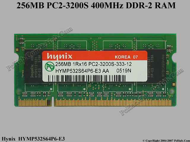 DDR-2 256MB PC2-3200S 400MHz