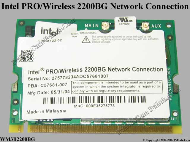 INTEL PROWIRELESS LAN 2200BG TREIBER WINDOWS 8