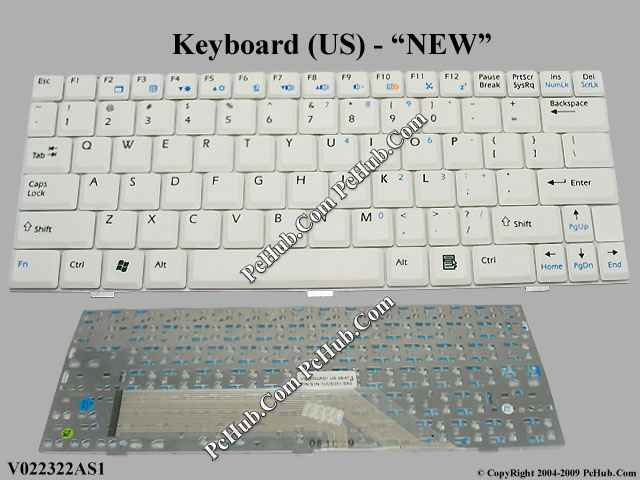 Msi Wind U100 Ms N011 Keyboard V022322as1 P N S1n