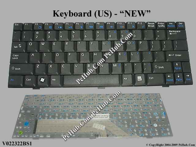Msi Wind U100 Ms N011 Keyboard V022322bs1 S1n 1uus2a1 Sa0