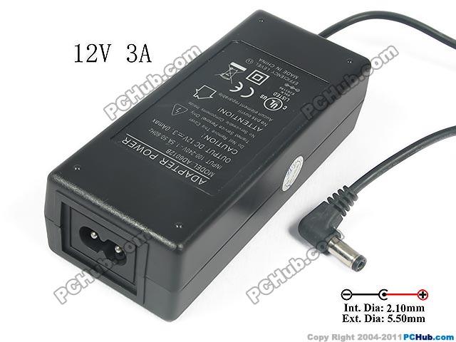 PCH OEM Power AC Adapter 5V-12V AD6012B,
