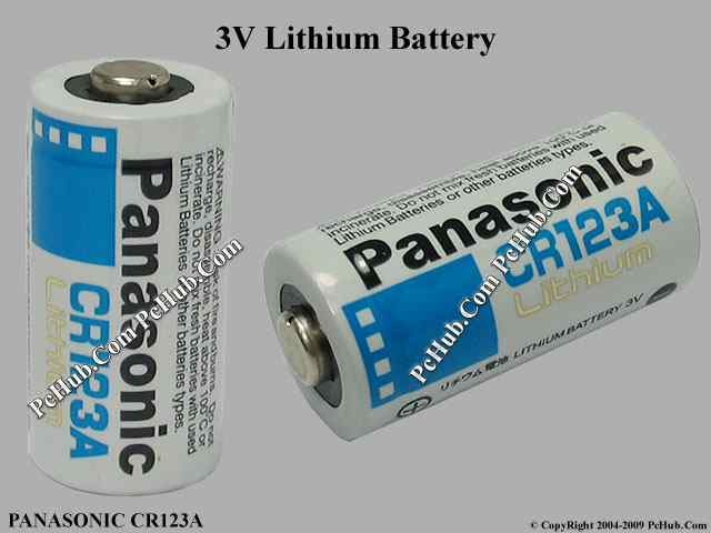 panasonic cr123a battery size various cr123a. Black Bedroom Furniture Sets. Home Design Ideas