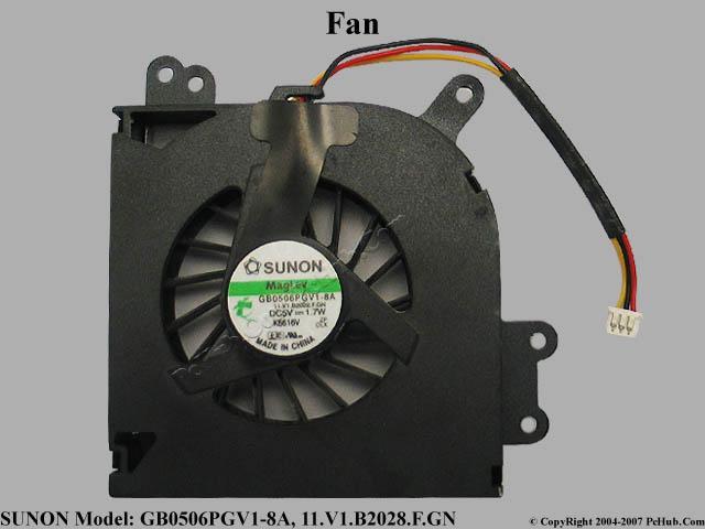 Acer Travelmate 2420 Aspire 3620  Heatsink 60.4A934.002