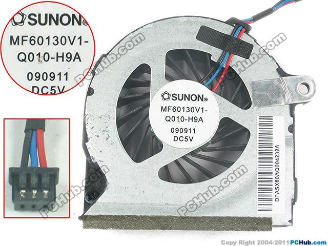 HP ProBook 4320S 4420S 4325S MF60130V1-Q010-H99 SOL46SX6PT 2.5W 3Pin Cooling Fan