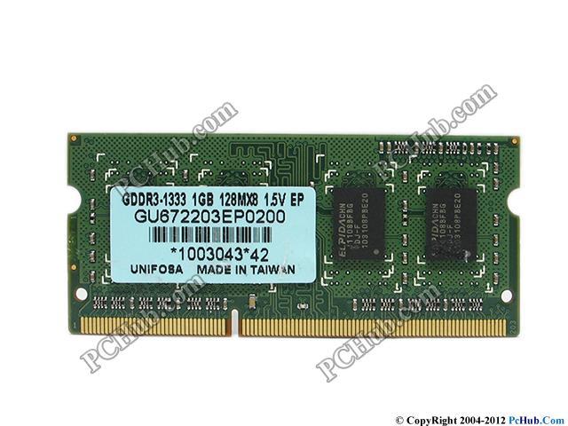 1GB 1333Hz DDR3 PC3-10600 SoDimm
