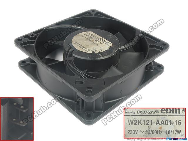 Ebm Papst W2k121 Aa01 16 Server Square Fan W2k121 Aa01 16